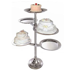 Eastern Tabletop 9755 Stainless Steel 3 Tier Dessert Tree Buffet Display