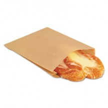 """EcoCraft Grease-Resistant Sandwich Bags, 6.5"""" x 8"""", Natural, 2000/Carton"""