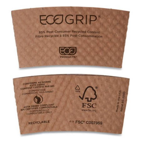Eco-Products Recycled Content Hot Cup Sleeve, 1300/Carton