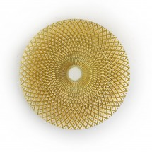 The Jay Companies 1470324 Round Edge Gold Glass Charger Plate 13""
