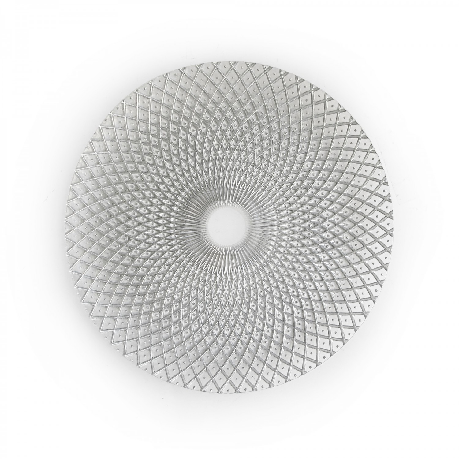 """The Jay Companies 1470325 Round Edge Silver Charger Plate 13"""""""