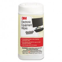3M Electronic Equipment Cleaning Wipes, 80/Canister
