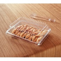 "Emi Yoshi EMI-108LP Clear Plastic Rectangular Lid (PET) 10"" x 8"" - 50 pcs"