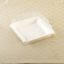 "Emi Yoshi EMI-1111LP Square PET Dome Lid 10-3/4"" - 50 pcs"