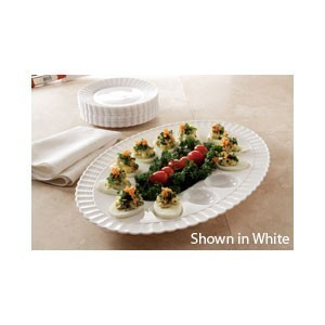 "Emi Yoshi EMI-1116ET Resposable Plastic Deviled Egg Tray 11"" x 16"" - 1 doz"