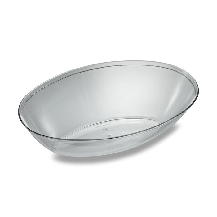 Emi Yoshi EMI-112 Oval Plastic Salad Bowl 1/2 Gallon - 50 pcs