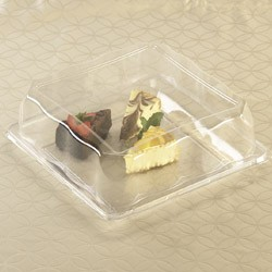 Emi Yoshi EMI-1212LP Square PET Dome Lid - 50 pcs
