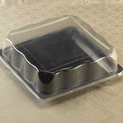 Emi Yoshi EMI-1414LP Square PET Dome Lid - 50 pcs