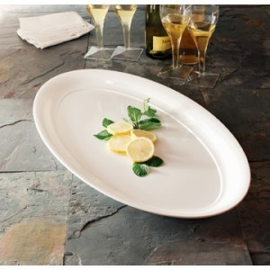 "Emi Yoshi EMI-1425 Plastic Oval Party Tray 14"" x 25"" - 20 pcs"