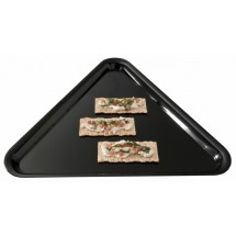 "Emi Yoshi EMI-161616 Plastic Triangle Serving Tray 16"" x 16"" x 16"" - 20 pcs"