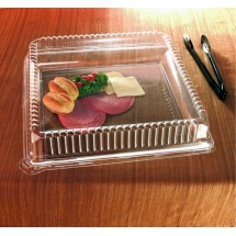 "Emi Yoshi EMI-1818LP Clear Plastic Square Lid (PET) 18"" x 18"" - 40 pcs"