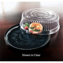 "Emi Yoshi EMI-240CPP Round Plastic Deli Mate Tray / Dome Lid (PET) 14"" - 25 sets"