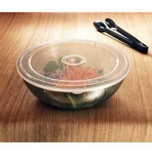 Emi Yoshi EMI-314 Clear Plastic Serving Bowl Lid 128 oz. & 192 oz. - 24 pcs