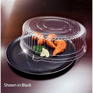 "Emi Yoshi EMI-440CPP Round Plastic Tray / Dome Lid (PET) 14"" - 25 sets"
