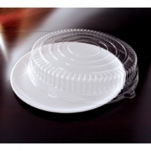 "Emi Yoshi EMI-460CPP Round Plastic Tray / Dome Lid (PET) 16"" - 25 sets"