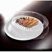 "Emi Yoshi EMI-480CPP Round Plastic Tray / Dome Lid (PET) 18"" - 25 sets"