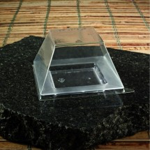 Emi Yoshi EMI-619LP Square Clear Plastic Dome Lid - 1000 pcs