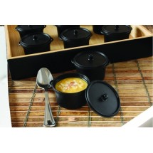 Emi Yoshi EMI-620 Black Micro Cooking Pot 2.7 oz. - 100 pcs