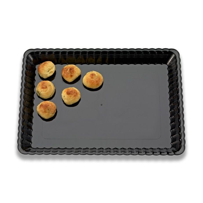 "Emi Yoshi EMI-RE913 Resposable Plastic Serving Tray 9"" x 13"" - 45 pcs"