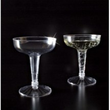 Emi Yoshi EMI-REC4-500 Clear Plastic Old Fashioned Champagne Glass 4 oz. - 500 pcs