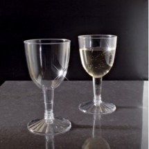 Emi Yoshi EMI-REWG25-360 2 Piece Clear Plastic Wine Glass Retail Pack 5 oz. - 30 doz