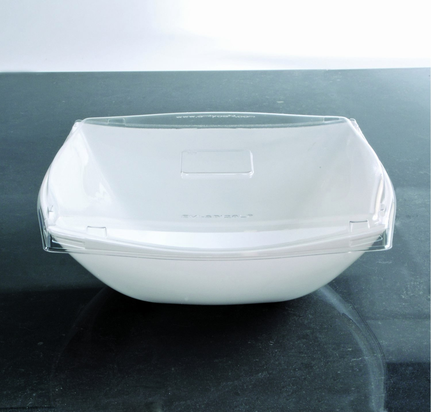 Emi Yoshi EMI-SB128LP PET Square Serving Bowl Lid 128 oz. - 4 doz