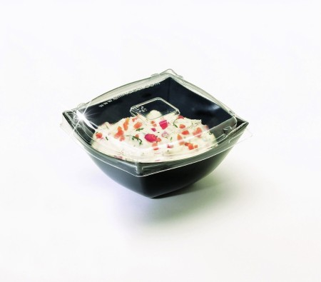 Emi Yoshi EMI-SB8LP PET Square Clear Plastic Serving Bowl Lid 8 oz. - 100 pcs