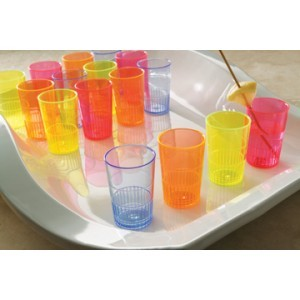 Emi Yoshi EMI-YNL15MIX Plastic Neon Lights Multicolored Shooter 1-1/2 oz. - 25 doz