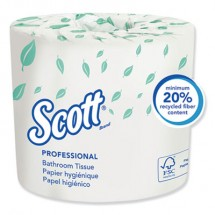 Essential Standard Roll Bathroom Tissue, Septic Safe, 2-Ply, White, 550 Sheets/Roll, 80/Carton