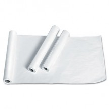 """Exam Table Paper, Deluxe Smooth, 18"""" x 225ft, White, 12 Rolls/Carton"""
