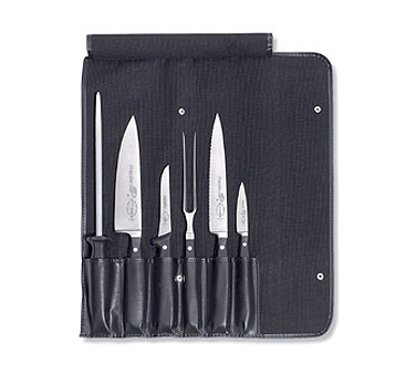 F. Dick 8106700 7 Piece Chef's Set in Roll Bag