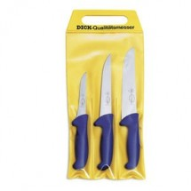 F. Dick 8255300 Set of 3 Ergogrip Butcher Knives