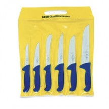 F. Dick 8256200 Set of 6 Ergogrip Butcher Knives