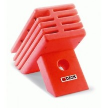 FDick 8801001-03 Empty Hygienic Knife Block, Plastic Red
