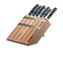 F. Dick 8802000 Premier Plus Wooden Knife Block Set - 6 Pieces