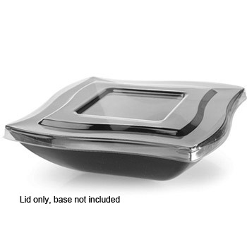 Fineline Settings 132-L 32 oz. Wavetrends Clear Flat Lid - 4 doz