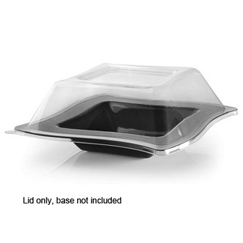 Fineline Settings 105-L 5 oz. Wavetrends Clear Dome Lid - 10 doz