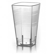 Fineline Settings 1112 12 oz. Wavetrends Clear Square Plastic Tumbler - 14 doz