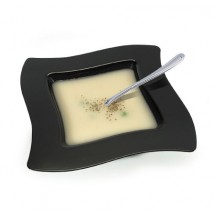 Fineline Settings 112 Wavetrends Square Soup Bowl 12 oz. - 10 doz