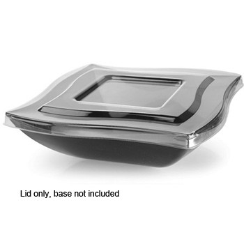 Fineline Settings 128-L 128 oz. Wavetrends Clear Flat Lid - 4 doz