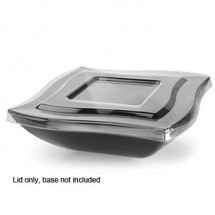 Fineline Settings 164-L  64 oz. Wavetrends Clear Flat Lid - 4 doz