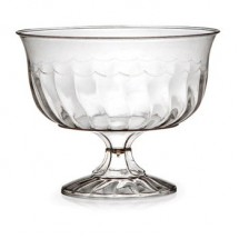Fineline Settings 2088 8 0z. Flairware Clear Plastic Dessert Cups - 20 doz