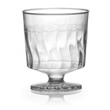 Fineline Settings 2202 2 oz. Flairware Clear Plastic Wine Glass - 20 doz