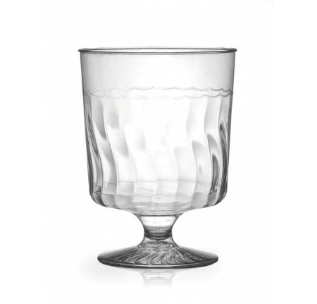 Fineline Settings 2205  5.5 oz. Flairware Clear Plastic Wine Glass - 20 doz