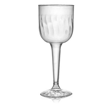 Fineline Settings 2209  8 oz. Flairware Clear Plastic Wine Goblet - 8 doz