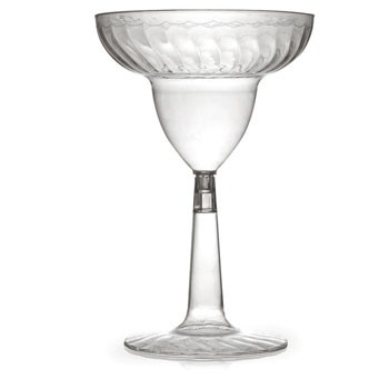Fineline Settings 2312 12 oz. Flairware Clear Plastic Margarita Glass - 12 doz