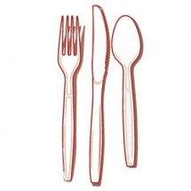 Fineline Settings 2514 Flairware Full Size Extra Heavy Cutlery Combo - 102 doz