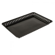 "Fineline Settings 293 9"" x 13"" Flairware Plastic Serving Tray - 99 pcs"