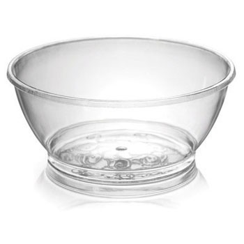 Fineline Settings 312 Savvi Serve 6 oz. Clear Plastic Bowl - 20 doz