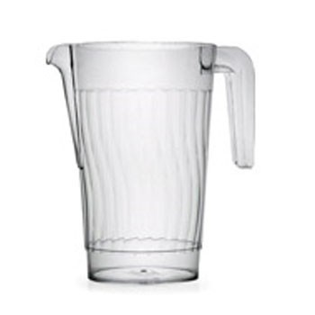 Fineline Settings 3401 Platter Pleasers Clear Plastic Pitcher 50 oz. - 50 pcs